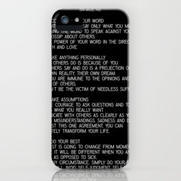 The Four Agreements #minimalist 2 iPhone Case
