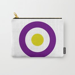 Retro Purple Mod Target Carry-All Pouch