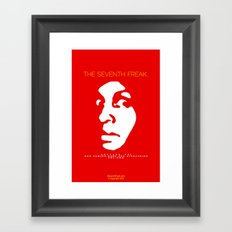 The Freaky Red Poster Framed Art Print