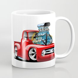 American Classic Hotrod Pickup Truck Cartoon Coffee Mug