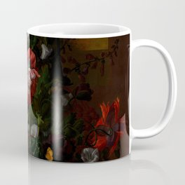 """Rachel Ruysch """"Roses, Convolvulus, Poppies, and Other Flowers in an Urn on a Stone Ledge"""" Coffee Mug"""