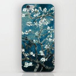 Van Gogh Almond Blossoms : Dark Teal iPhone Skin