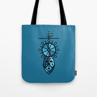 wreck it ralph Tote Bags featuring Wreck by Hinterlund