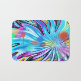 Abstract splash and water colour droplets Bath Mat