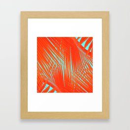 Flame Frenzy Framed Art Print