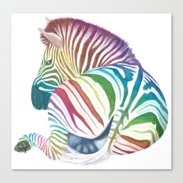 Rainbow Stripes Canvas Print