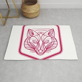Fox Head Crest Monoline Rug
