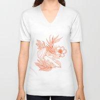 hawaiian V-neck T-shirts featuring Hawaiian-Spring  by bodkin5