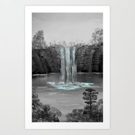 Serene waterfall Art Print