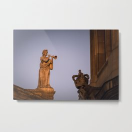 Muse of Flutes and  Lyrical Poetry Euterpe on the Clarendon Building Oxford University England Metal Print