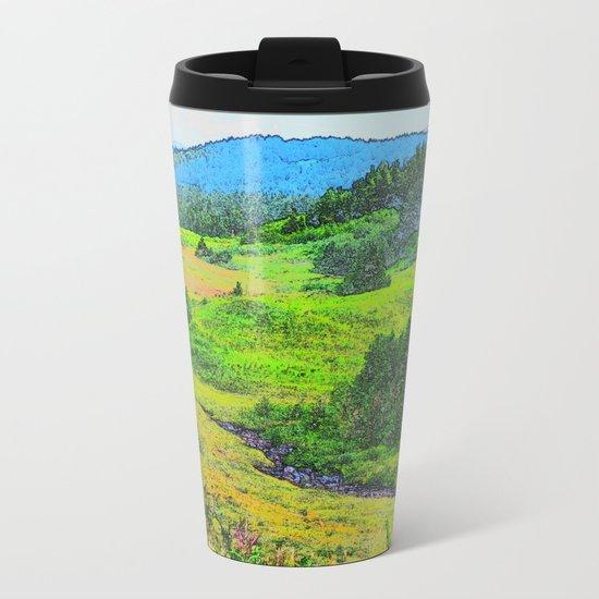 Alaska's Kenai Peninsula - Watercolor Metal Travel Mug