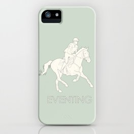 Eventing in green iPhone Case