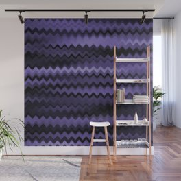 Purple Waves Abstract Wall Mural