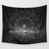 universe Wall Tapestries featuring STARGAZING IS LIKE TIME TRAVEL by Amanda Mocci