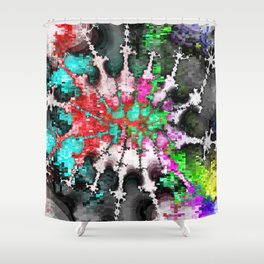 square dance music party Shower Curtain