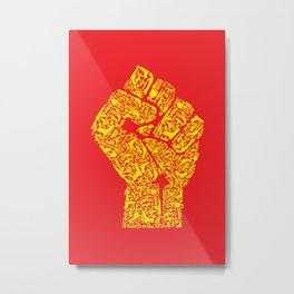 The Hand of Revolution Metal Print