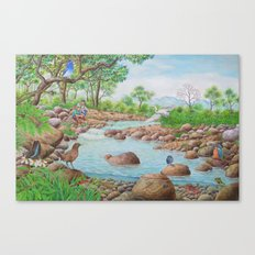 A Day of Forest(7). (the river ecosystem) Canvas Print