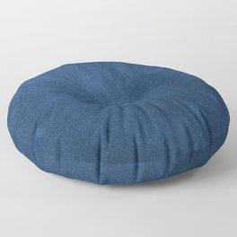 Blue leather texture Floor Pillow