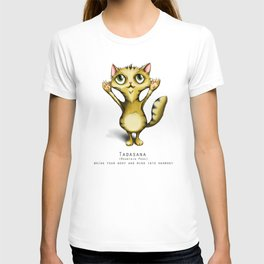 yoga cat tadasana T-shirt