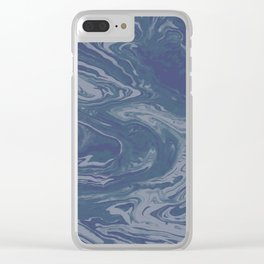 Alabaster Stone Clear iPhone Case