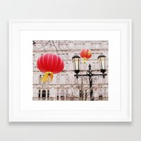 lanterns Framed Art Prints featuring Lanterns by Judith Kimber Photography