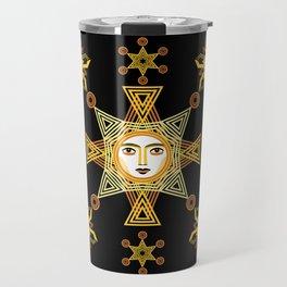 Snowflake Stars collection  by ©2018 Balbusso Twins Travel Mug