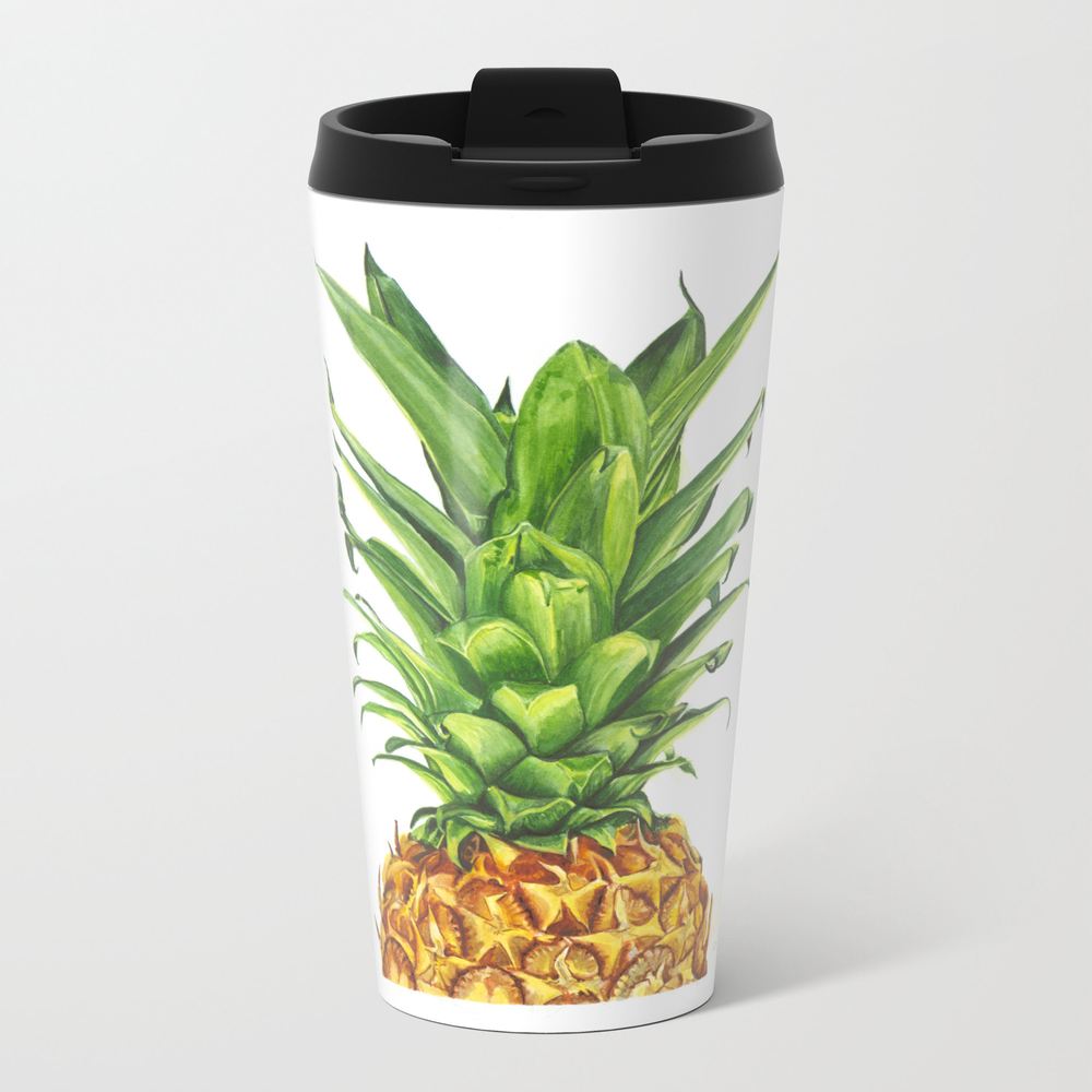 Watercolor Pineapple Travel Cup TRM7866429