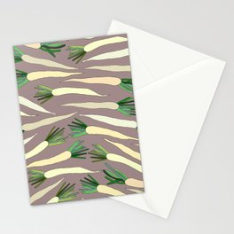 Daikon Radish Carrot Roots Stationery Cards