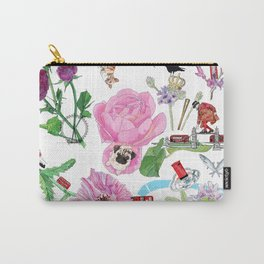 London in Bloom - Flowers and transportation that make London Carry-All Pouch
