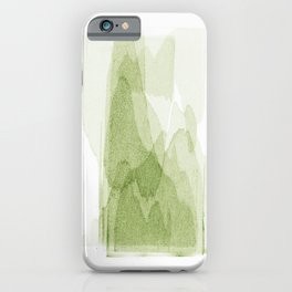 transparent 3 - green iPhone Case