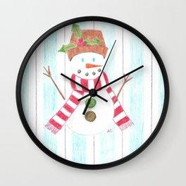 Bonhomme de neige Wall Clock