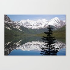 Mountain Reflection with Lone Pine Canvas Print