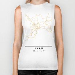 BAKU AZERBAIJAN CITY STREET MAP ART Biker Tank