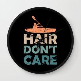 Kayak Hair Don't Care Kayaking  Wall Clock
