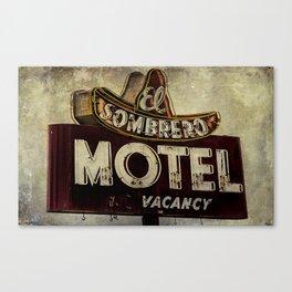 Vintage El Sombrero Motel Sign Canvas Print