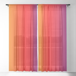 070 Fresh Saturation Gradient Sheer Curtain
