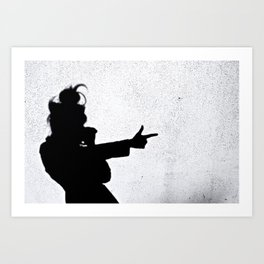 Ghost Shadow Shooter Art Print