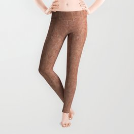 Brown canvas cloth texture abstract Leggings