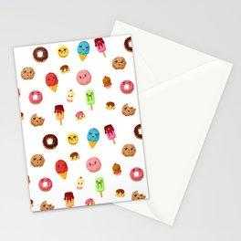 Kawaii food Stationery Cards