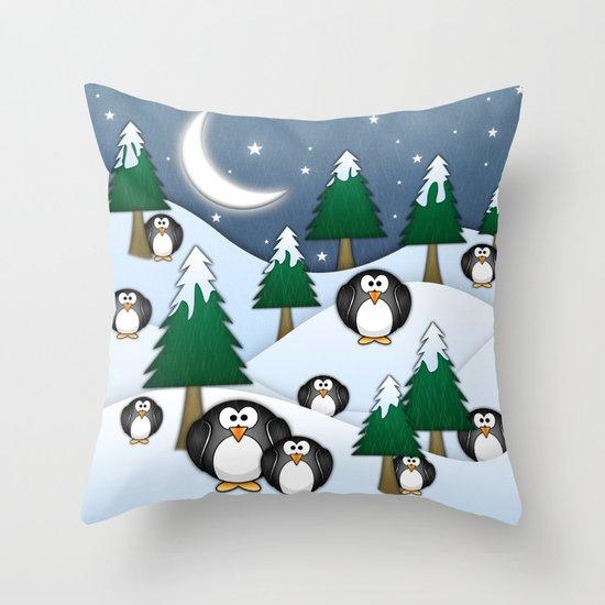 BRRRRRR! It's Chilly Throw Pillow