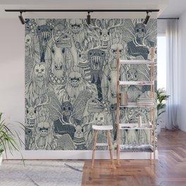 cryptid crowd indigo pearl Wall Mural