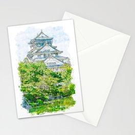 Osaka Castle Surrounded By Beauty Stationery Cards