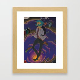 Down the rabbit hole original art print Framed Art Print