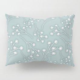 Baby's Breath Flower Pattern - Grey Green Pillow Sham
