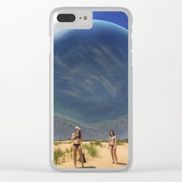 Michigan Selfie Ball Clear iPhone Case