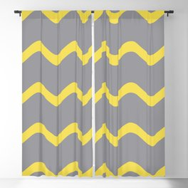 Soft Rippled Horizontal Line Pattern Pantone 2021 Color Of The Year Illuminating and Ultimate Gray  Blackout Curtain