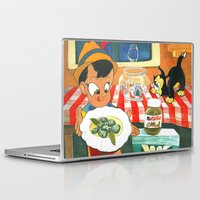 nutella Laptop & iPad Skins featuring Pinocchio by Miz2017