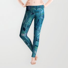 Indigo Feathers Leggings