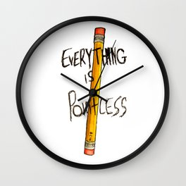 Everything is Pointless Wall Clock