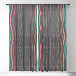 Abstract background 54 Sheer Curtain